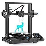 Creality Ender 3 V2 3D-Drucker mit 32-Bit-Silent-Motherboard, Meanwell-Netzteil, Carborundum-Glasplattform und Lebenslaufdruck 220 x 220 x 250 mm